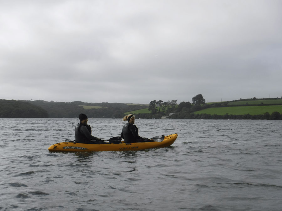 Keeping food supplies alive on Helford River