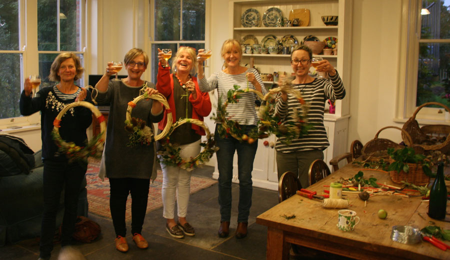 Wreath making seasonal friendship and fun!